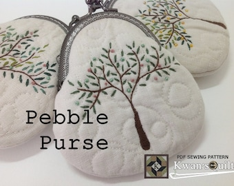 Pebble Purse PDF PATTERN and TUTORIAL, Instant downloaded pattern