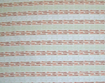 STORE CLOSING SALE - Free Spirit, Enchantment, Hitched, Silver Sage, Kathy Davis, Stripe, Green, 100% Cotton Quilt Fabric, Quilting Fabric