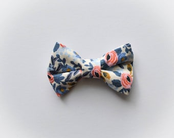 Rifle paper Co Rosa bow // fabric bow // bow tie // headband // alligator clip // nylon headband // baby shower gift // baby bow //