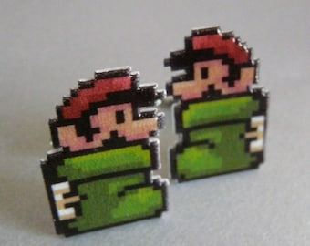 there once was a plumber who lives in a shoe - super mario 3 cufflinks