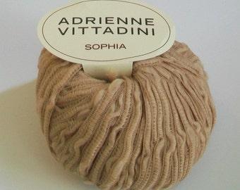 Adrienne Vittadini Sophia Yarn in Camel Color #511 Made in Italy - destash by foxygknits
