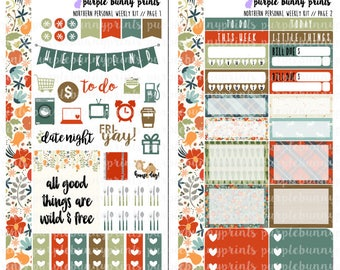 Northern PERSONAL Weekly Kit // Sized for the SMC Inserts // Planner Stickers!