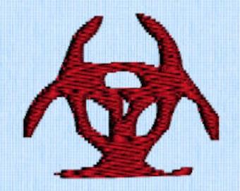 Bio Hazard Symbol Embroidery Design