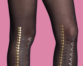 Kendall sheer black tights, available in S-M, L-XL,