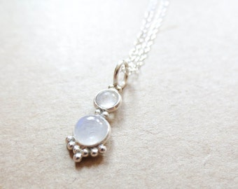 Fertility Necklace -The Fertile Moonstone in Sterling Silver, Enhancing Jewelry, Simple, Elegant