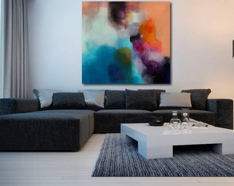 Large colourful abstract painting made to order
