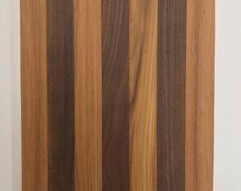 Hickory and Walnut Handmade Cutting Board