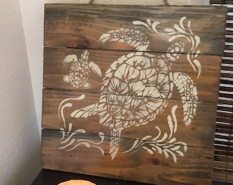 Rustic turtle decor