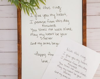 Custom Keepsake Sign In Your Handwriting