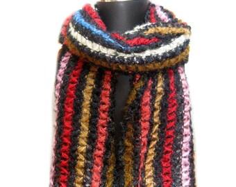 Shawl/ woolen scarf/ knit scarf/ plaid scarf/crochet scarf/ wrap/ muffler/ stole/. Gift ideas.