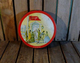 Vintage Candy Tin, Swerseys Candy Tin Can