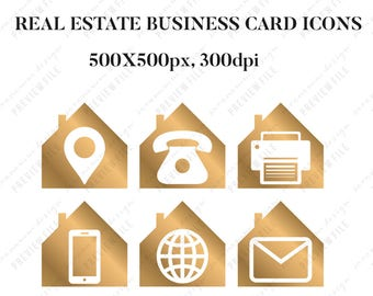real estate business card icons, real estate marketing, social media icons, realtor marketing, real estate agent, realtor logo, real estate