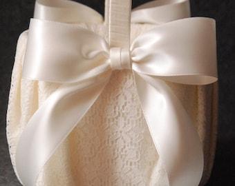 Ivory Lace Basket - Katherine