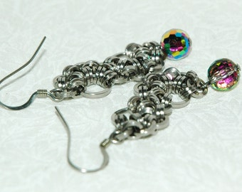 Japanese Maille ChainMaille Earrings