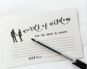 wedding advice cards advice for the bride and groom words of wisdom bridal shower games hen party engagement party bachelorette party 10 pk