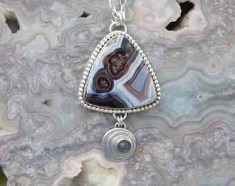 Agua Nueva Agate Moonstone Multi Stone Sterling Silver Necklace