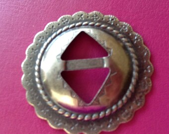 Concho silver plated