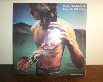 Vintage 1978 Vinyl LP Record Back to the Bars Todd Rundgren Live Double LP Excellent Condition 9784