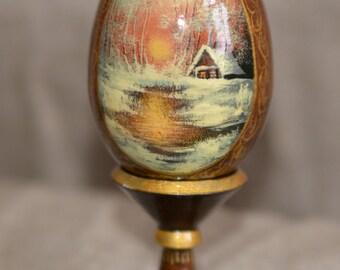 Egg 'Winter landscape'