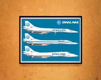 Reprint of a Vintage Pan Am STS Airline Poster