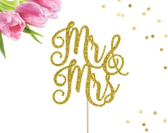 Mr and Mrs Cake Topper, Wedding Cake Topper, Mr and Mrs Topper, Bridal Shower Cake Topper, Wedding Decor, Wedding Cake Decor, Wedding Cake