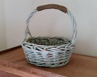 Blue/Green Shabby Chic Basket