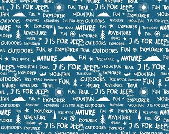 J Is For Jeep - Words Blue C6464