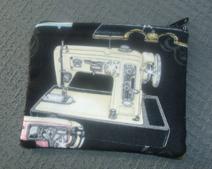 Change Purse with Sewing Machine print