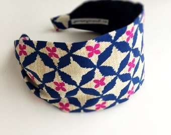 Blue & pink hair bands for women headband hair scarf hairband accessories woman short hair wove is me royal