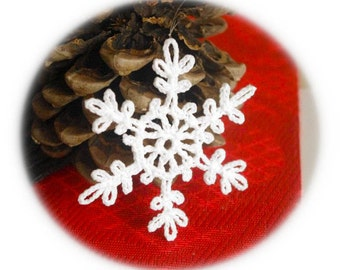 Snowflake ornament Christmas decor Crochet snowflake Winter ornament Handmade ornaments Christmas snowflakes S17