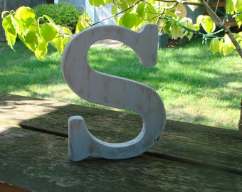 """8"""" Rustic Wooden letter / Shaby chic rustic letter / Worn and Distressed wooden letter / nursery room / Wall Decor / Standard Font"""