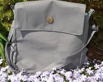 Small diaper bag/ tote gray