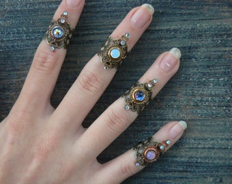 knuckle ring midi ring stocking stuffer ONE armor ring nail ring claw gothic rings victorian rings moon goddess ring boho  festival jewelry