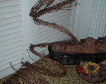 One 15' Thin Twig Grapevine Garland Wedding Rustic Primitive Natural