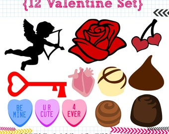 12 Valentine SVG DXF cut files