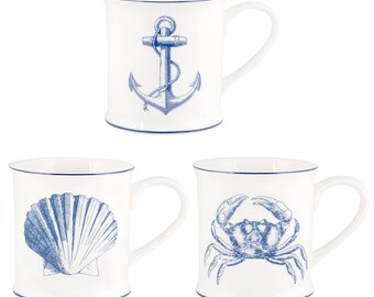 Set of 3 sea Vintage cups