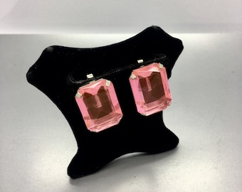Large Pink Lucite Earrings Summer Fun Fashion Jewelry