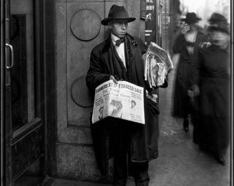 Caufield and Shook Photo, News Seller, 1920s