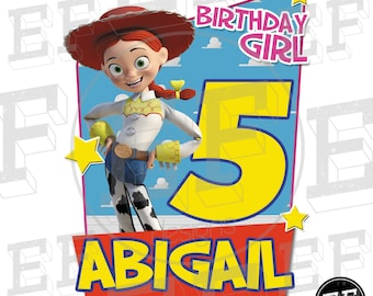 Jessie Toy Story Shirt Personalized Shirt Toy Story  birthday girl woody y buzz, Jessy