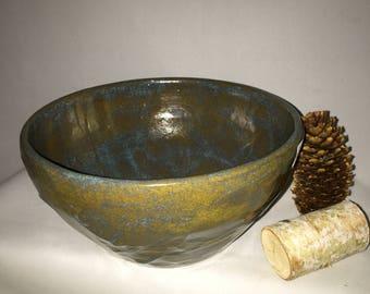 Stoneware Textured Serving Bowl