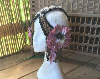 alphonse mucha art nouveau head piece tribal fusion headdress