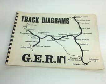 Vintage Track Diagrams GER No 1 Railway Train Book Drawings Railwayana Great Eastern 1972 George Alan Publications