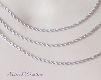Twisted 2.4 mm - stainless steel chain