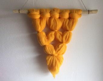 Merino wool Wall Hanging,Weaving,boho style,Tapestry,macrame wall tapestry interior design,lana merino,bulky yarn,handmade