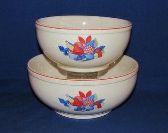 Universal Cambridge CALICO FRUIT Bowls Serving 1940s