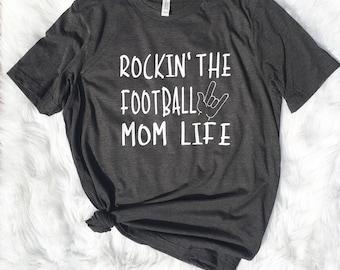 Rocking that football momlife, football mom, football mom, sports mom, football coach, gift for mom, sports mom, hockey mom, wrestling mom,