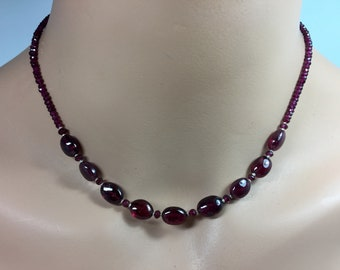 Rhodolite Garnet Necklace in Sterling Silver