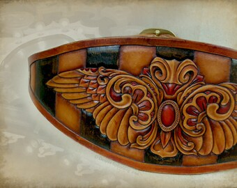 Darling of the Midway - Intricate Leather Waist Belt