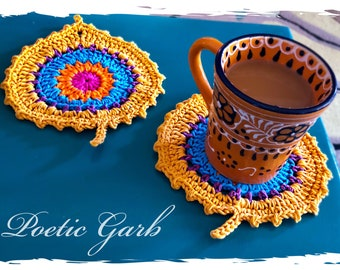 BOHO Coasters ... Crochet 100% Cotton