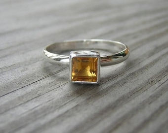 Fit for a Princess Citrine Solitaire, Made to Order in YOUR Size